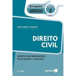 SINOPSES JURIDICAS V06 TOMO I - DIREITO DAS OBRIGACOES - PARTE ESPECIAL - CONTRATOS