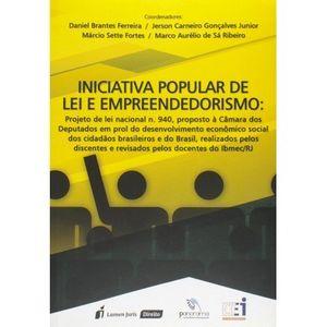 INICIATIVA POPULAR DE LEI E EMPREENDEDORISMO