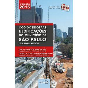 CODIGO DE OBRAS E EDIFICACOES DO MUNICIPIO DE SAO PAULO