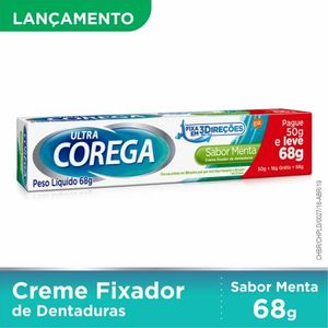 COREGA ULTRA CREME MENTA 68G