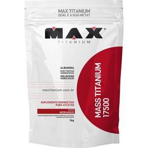 MAX MASS TITANIUM 17500 MORANGO 3KG