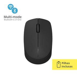 Mouse Rapoo Bluetooth + 2.4 Ghz Black Garantia 5 Anos Com Pilha - M100