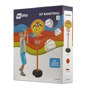 Go Play Kit Basquete com Pedestal Ajustável Bola e Bomba Indicado para +3 Anos Multikids - BR951