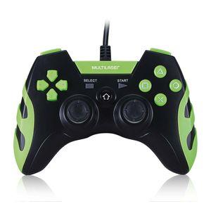 Controle Gamer PS3/PC Preto/Verde Multilaser - JS091