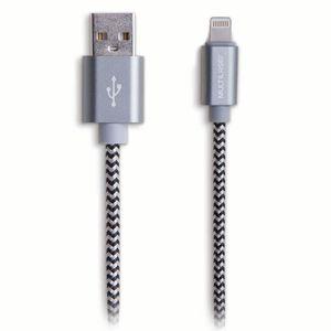 Cabo Lightning Macho e USB-A para iPhone com Cabo de 1,5 Metros e Material em Nylon Multilaser - WI343