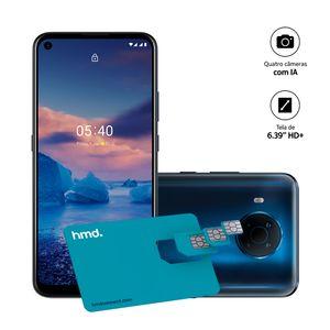 Smartphone Nokia 5.4 128GB, 4GB RAM, Tela 6,39 Pol. Câm Quádrupla com IA + Lentes Ultra-Wide + Cartão SIM HMD Connect - Azul - NK030
