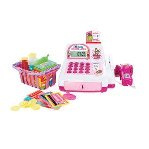 Caixa Registradora Creative Fun com Acessórios, Alimentação por 2 Pilhas AA Indicado para +4 Anos Rosa Multikids - BR387