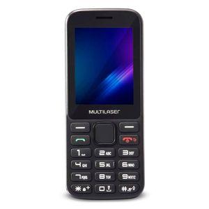 Celular Multilaser ZAPP 2,4 Pol. Conexão 3G 512MB, Preto, KaiOS, Facebook, Whatsapp, Google Assis - P9098