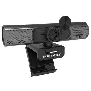 Webcam Ultra HD 2K Foco Automático Noise Cancelling Microfone Embutido Preto Multilaser - WC053