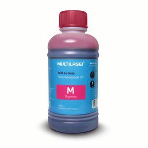 Refil de Tinta para Cartucho Impressoras HP 250ml Magenta Multilaser - RF011