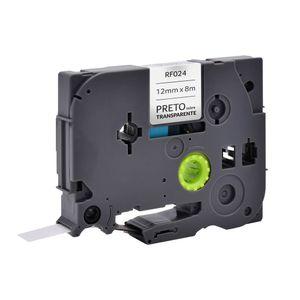 Fita para Rotulador Brother TZE-131 Preto sobre Transparente 12mm - RF024