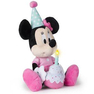 Pelúcia Minnie Happy Birthday com Som Alimentação por 3 Baterias LR44 Indicado para +18 Meses Multikids - BR374
