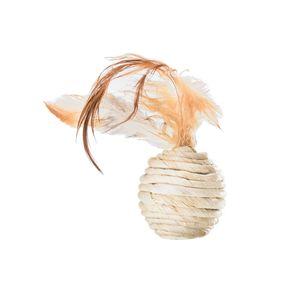 Brinquedo Para Pet Bolinha Com Peninhas Fibra Natural E Texturas Diferentes Para Gatos Tam. Único  Mimo - PP121