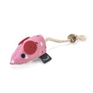 Brinquedo De Pelúcia Para Gatos Ratinho Deco Rosa Mimo - PP241