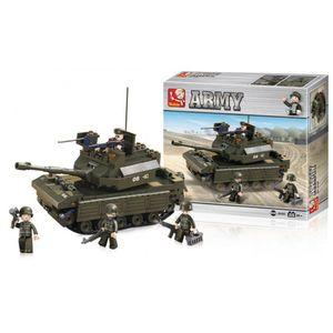 Blocos de Montar Land Forces Tanque de Guerra 312 Peças Indicado para +6 Anos Verde Musgo Multikids - BR908