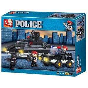 Blocos de Montar Policia Tanque de Guerra 311 Peças Indicado para +6 Anos Material Plástico Colorido Multikids - BR836