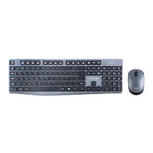 Teclado e Mouse Sem Fio Multilaser 2.4 GHZ USB Preto e Cinza - TC245