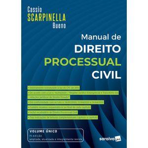 MANUAL DE DIREITO PROCESSUAL CIVIL - VOLUME UNICO